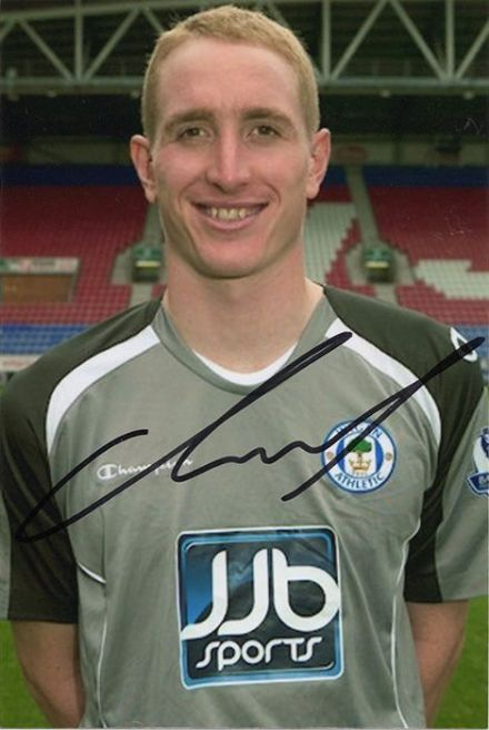 Chris Kirkland, Wigan Athletic, signed 6x4 inch photo.